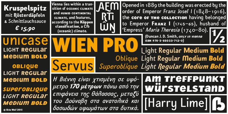 Wien. The Urban Typeface by Ekke Wolf